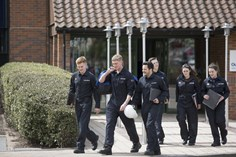 Apprentice engineers, off to classes - ©National Grid